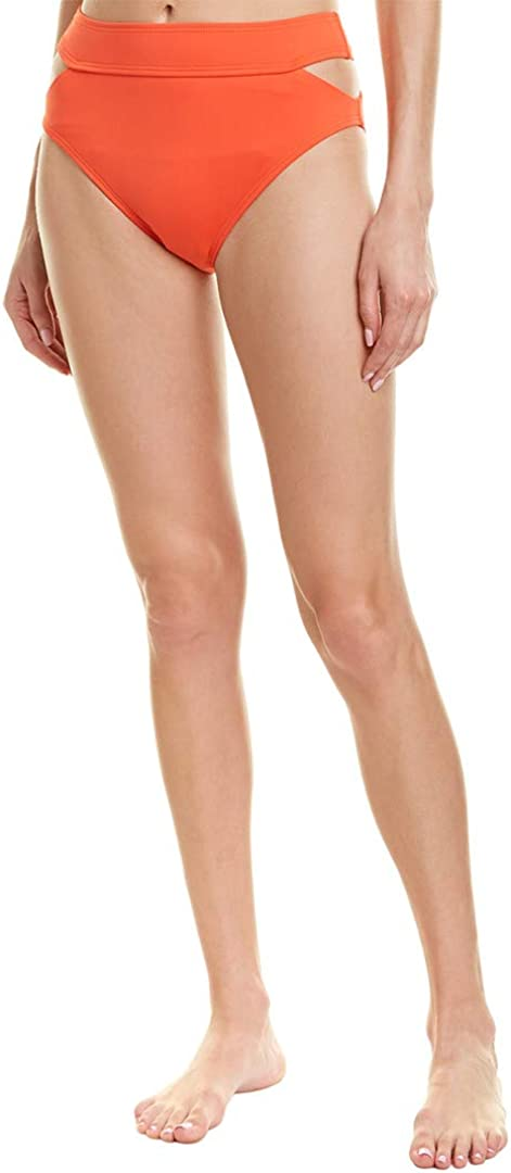 Vince Camuto Women's High Waist Bikini Bottom Swimsuit with Cut Out Detail