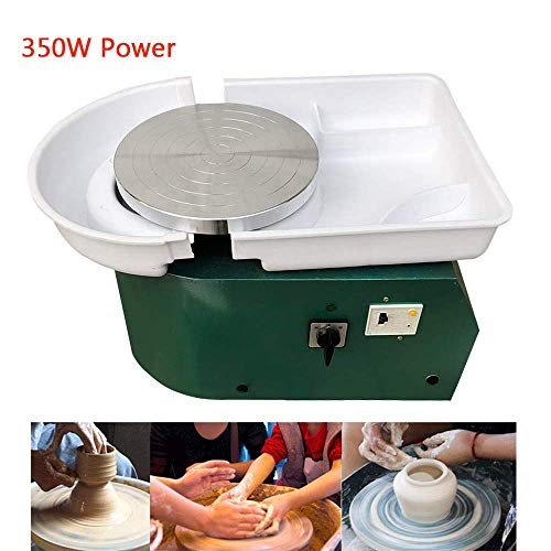 Pottery Wheel Electric Pottery Forming Machine 350W DIY Pottery Artist Studio Easy Spin Pottery Wheel Machine for Ceramic Work Clay Art Craft Adults Kids for Fun