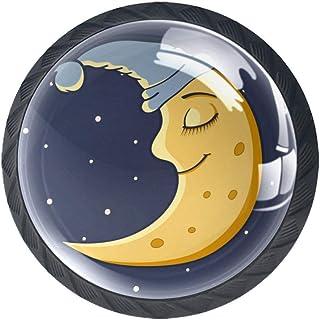 Sleeping Moon - Pomos para armario 4 unidades de cristal ABS
