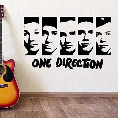 hetingyue One Direction Home Decoration wandaufkleber Vinyl wandkunst Aufkleber Schlafzimmer Aufkleber Mode Junge Schlafzimmer wandbild 104x63 cm