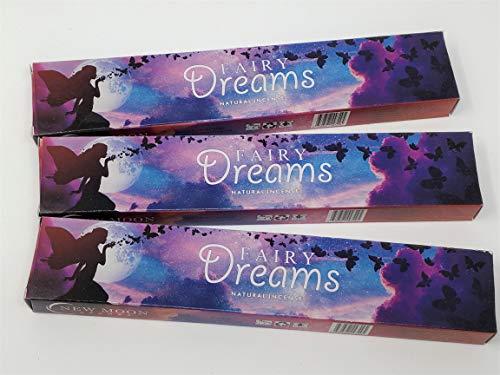3 X Fairy Dreams New Moon Bâtons d'encens avec gratuit souvenir badge par Sterling Effectz