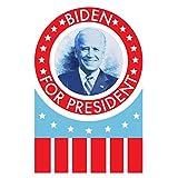 ポスター Foundry Joe Biden 2020 大統領 レトロサークルロゴ アメリカ国旗投票 民主党大統領選挙キャンペーン ストレッチキャンバスアート 壁装飾 16x24