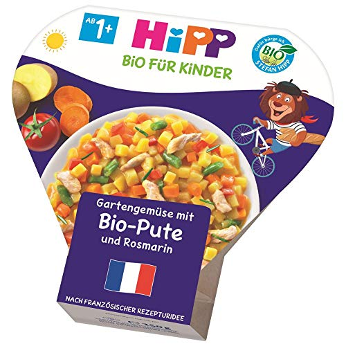 HiPP Gartengemüse mit Pute und Rosmarin, 6er Pack (6 x 250 g)