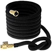 INNAV8 Expandable Garden Water Hose - All New 2019 Double Latex Core No-Kink Flexible Hose - Collapsible Expanding Hoses 3/4 Solid Brass Fittings, Retractable Black Flex Pocket Hose 25 50 75 100 FT