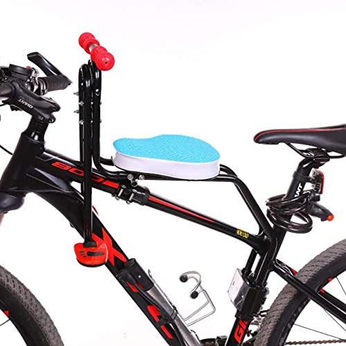 MIAOKU Sillines de Bicicleta para Niños Asiento Desmontable Delantero Plegable, Pedal con Mango, para Bicicletas de montaña, híbridas y de Fitness