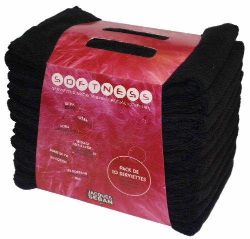 Serviettes microfibres x 10 dimension 50x80cm noir