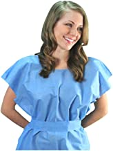 Graham Disposable Exam Gowns, Poly Tissue, 30 x 42, Blue, 50 per Carton