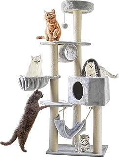 Seemo Cat Tree Tower Cat Tree House Cat Tree Condo Cat Scratcher 5.25 ft (160cm) Wood Rattan Pet Supplies with Versatile S...