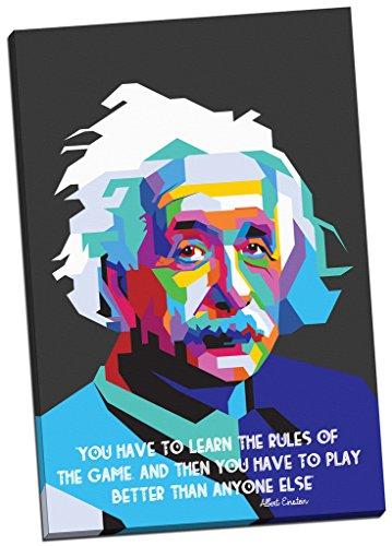Albert-Einstein-Zitat, Kunstdruck auf Leinwand, moderne Kunst, Großformat, 76,2 x 50,8 cm