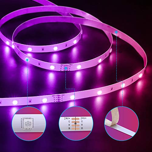 Govee 65.6 Feet Led Strip Lights Work with Alexa and Google Assistant RGB for Bedroom Kitchen 5