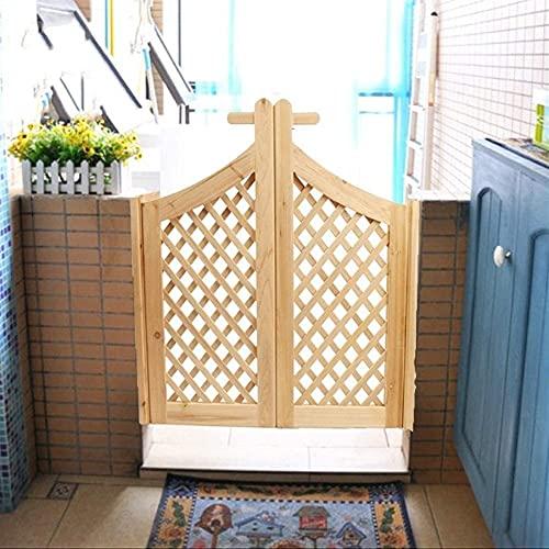 Puertas de Interior Estilo de celosía Cafe Saloon Puertas, 100% de madera sólida Puertas de la cafetería Puertas sin pintar, las puertas de salón abierto de dos vías se adaptan a cualquier tamaño de a
