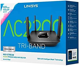 Linksys MR8300 Tri-Band MU-MIMO Mesh WiFi Router (AC2200, 4 Gigabit Ethernet Ports, Fast Wireless Router)