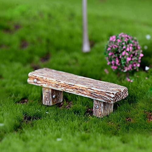 Ogquaton 3 Stücke Mini Fairy Garden Miniatur Landschaft Bonsai DIY Ornamente, Retro Bänke Praktisch