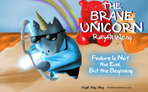 The Brave Unicorn: Grit book for kids with 3D illustrations (English Edition)