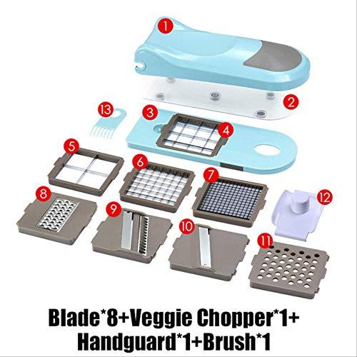 siyao Pelador Picadora Manual De Cebolla Picadora De Verduras Mandoline Slicer Dicer con 8 Cuchillas Reemplazables Veggie Kitchen ToolsStyle 2