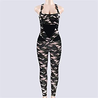 Camo Sports Jumpsuit for Yoga Woman Sportswear Dry Fit Gym Fitness Sport Wear Workout Clothes for Women Active Backless