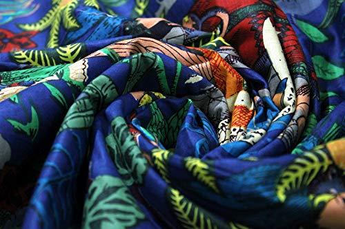Trade Star - Indiase handgedrukte sjaals maken stof, katoen bloemenstof voor quilten, decoratieve stof door de meter voor het vervaardigen, Home Furnishing Boho stof