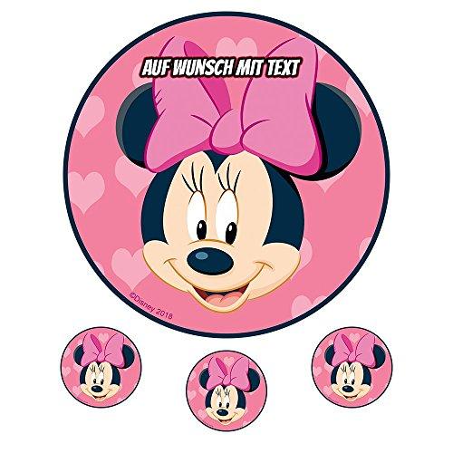 Tortenaufleger Geburtstag Tortenbild Zuckerbild Oblate Motiv: Disney Minnie Maus 02 (Oblatenpapier)