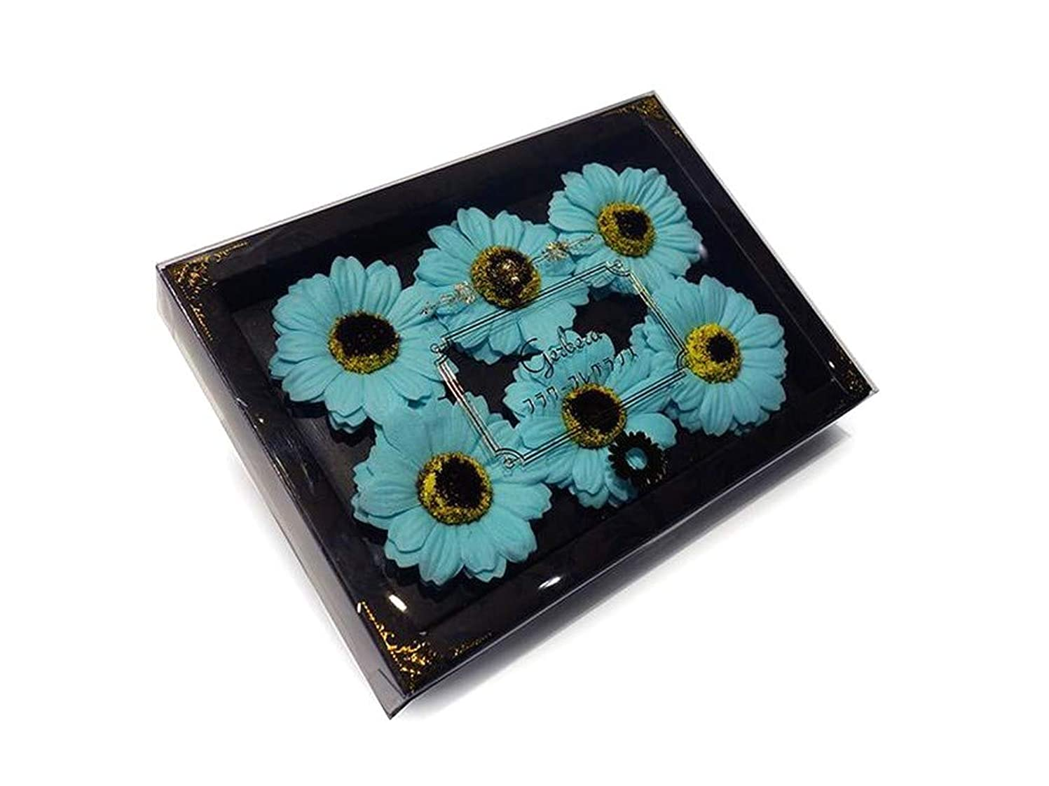 空港メディカル十分です花のカタチの入浴剤 ガーベラ バスフレグランス フラワーフレグランス バスフラワー (ライトブルー)