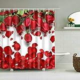 Cortina de Ducha Set de decoración Caballo Africano Diseño de Pintura Realista Cortinas de baño