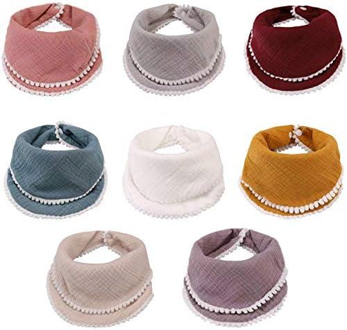 Baby Bandana Drool Bibs 8 Pack Baby Bibs for Boys Girls Adjustable Baby Bibs Set for Teething product image