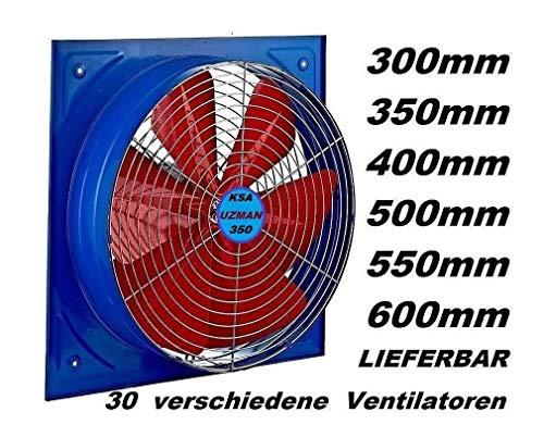 Uzman-Versand KSA-350MM Wandventilator, Axial Wand Fenster Ventilator/Gebläse Einbauventilator Wandlüfter Dach/Tür Kühlventilator Ventilatoren Badlüfter Küchenventilator