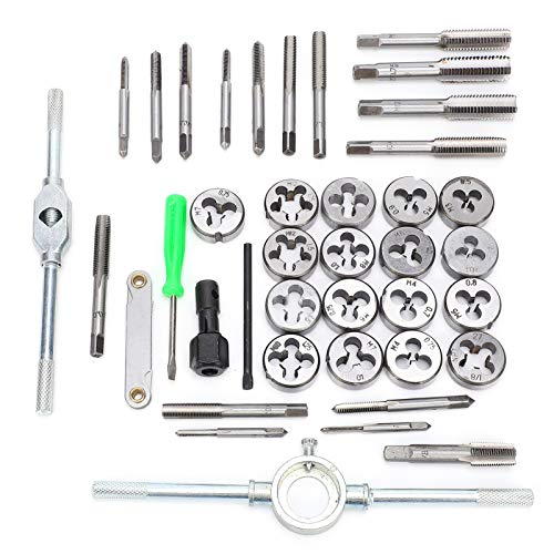40pcs Metric Tap and Die Set Carbon Steel Hand Threading Tool