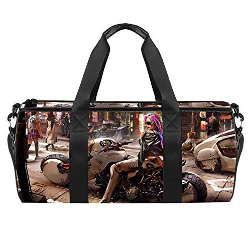 Desheze Sporttasche für Kinder Motorrad Reisetasche Klein Schwimmtasche Wasserdicht Schultertaschen Badetasche Handtasche Umhängetasche Tasche für Sport Fitness Gym 45x23x23cm