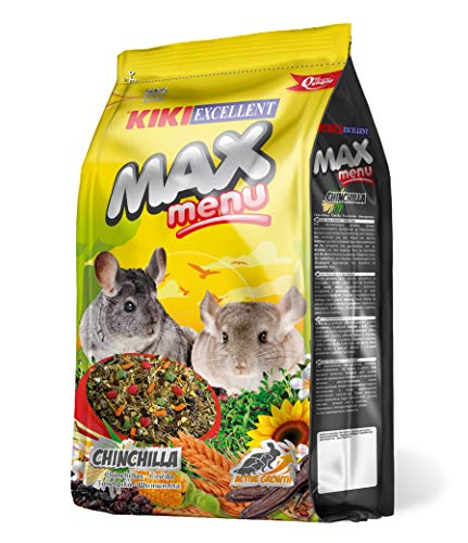 KIKI Alimento Completo para Chinchillas MAX Menu 1Kg