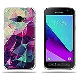 fubaoda Funda Samsung Galaxy Xcover 4, 3D Relear,Dibujo de Colorido Cubo Mágico, Flexible Funda Protectora Anti-Golpes para Samsung Xcover 4 (5.0')