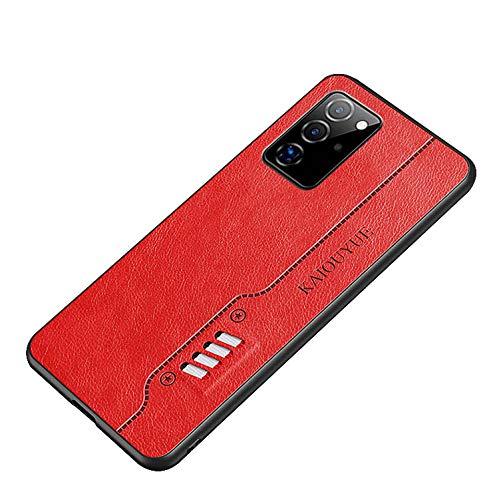 Galaxy A51 5G SC-54A/SCG07 シンプルケース/カバー PUレザー ソフトケースン ギャラクシーA51 5G 頑丈 レザー調 ケース アンドロイド おしゃれ スマートフォン/スマフォ/スマホケース/カバー(レッド)