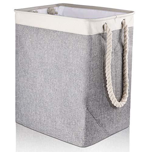 Cesto per biancheria Mreechan, secchio per biancheria, cesto per biancheria sporca, usato per riporre vestiti, giocattoli, può essere posizionato in bagno, camera da letto, ecc. (grey)