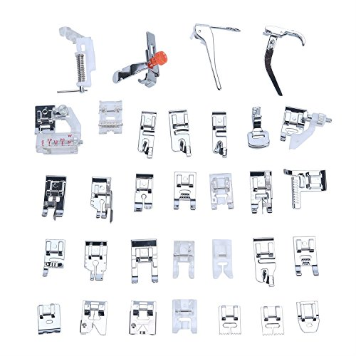 Best Deals! Professional Domestic Sewing Machine Presser Feet Set for Brother, Babylock, Singer, Jan...