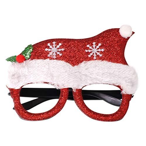 Dasongff Weihnachtsbaum Hut, Party Gläser Rahmen Keine Linsen Brillen Lustiger Brillen Kinder Geschenke Santa Weihnachtsbaum Weihnachtsdeko Rentier Spaßbrille Partybrille
