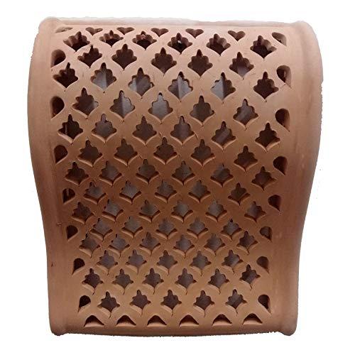 Arredo Etnico Applique Parete Lampada Terracotta Tunisina Marocchina 0211201005