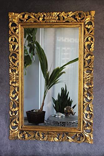 Naturesco Barockspiegel Wandspiegel Rokoko Barock Holzrahmen geschnitzt Gold antik 120cm x 80cm