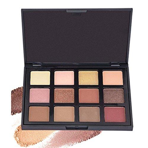 Coloré(TM) Palettes de maquillage 12 Couleurs Palette de Fard à Paupière Waterproof Durable Matte Shimmer (C)