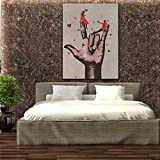 HD Wall Art Pictures For Living Room Big Hand Canvas Painting Home Decor Framework Posters 30x45cm