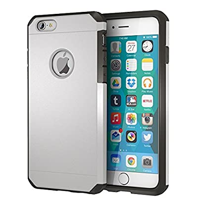 iPhone 6 / 6s Case, ImpactStrong Heavy Duty Dual Layer Protection Cover Heavy Duty Case for Apple iPhone 6 / 6s (Silver)