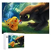 Pikachu ジグソーパズル 1000ピース 絵画 学生 子供 大人 向け 木製パズル TOYS AND GAMES おもちゃ(6歳以上が適しています)