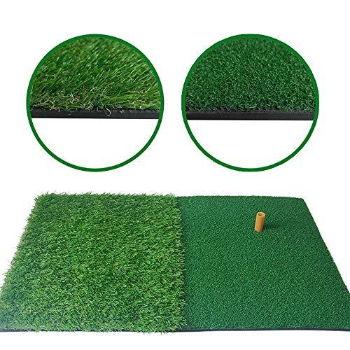 QAZPL 2 in 1 Golf Schlagen Matte, 40 * 60cm Golf Matte, bewegliche Innen Büro Outdoor Multifunktions Lange und Kurze Gras Golf Practice Mat