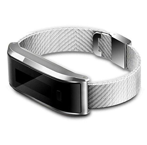 Kolylong® smart Armband Sport Unisex Sport Armbanduhr Pedometer-Schritt gehenden Kalorie-Gegen Sport Tracker Für iPhone 4S / 5 / 5C / 5S / 6 / 6P IOS6.1 Oben, Android 4.3 und höher (Silber)