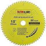 Saxton TCT25560TPRO Lame de scie circulaire TCT 255 mm x 60 dents x 30 mm, alésage 16, 20, 25, 25,4 mm, bagues de réduction compatibles avec Evolution, Bosch, Makita, Dewalt, etc.