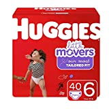 Huggies Little Movers Diapers, Size 6 (35+ lb.), 40 Ct, Big Pack (Packaging May Vary)