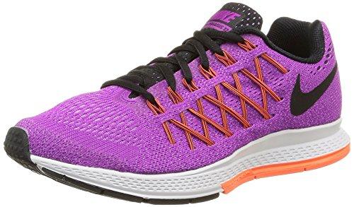 Nike Wmns Air Zoom Pegasus 32 - Zapatillas de Running para Mujer, Color púrpura/Negro/Fuchsia, Talla 6.5