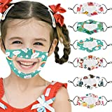 Gerichy Pack of 6PC Kids Face_Masks for Hearing Impaired and Deaf with Clear Visible Window Reusable Washable Breathable Face Bandanas with Mouth Expression Shield Muffle Balaclava