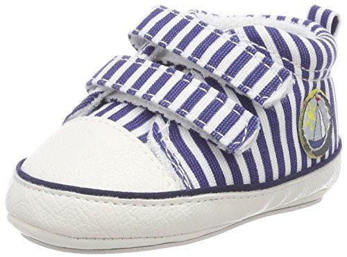 Sterntaler Baby-Schuh mit Klettverschluss und rutschfesten Sohlen für Jungen, Alter: 6-9 Monate, Größe: 18, Farbe: Blau (Marine), Art.-Nr.: 2301810