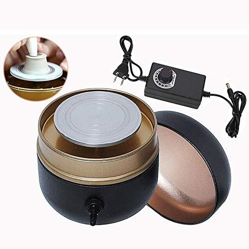 MIAOLEIE Mini Elektrotöpfe Maschine Töpferwarner Radmaschine (1500 RPM) Formiermaschine Mit Tablett Für DIY Keramikarbeit Lehm-Kunsthandwerk Palm Größe
