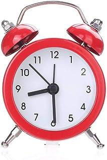 XLZZLDZ Réveil Réveils Horloge Réveil en Métal Nuit Silencieuse Fonctionnelle LED Réveil Lumière Chambre d'enfants Accesso...