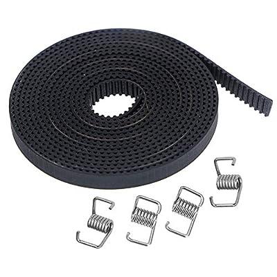 KeeYees 5M GT2 Rubber Timing Belt 6mm Width + 4pcs Tensioner Spring Torsion for 3D printer RepRap